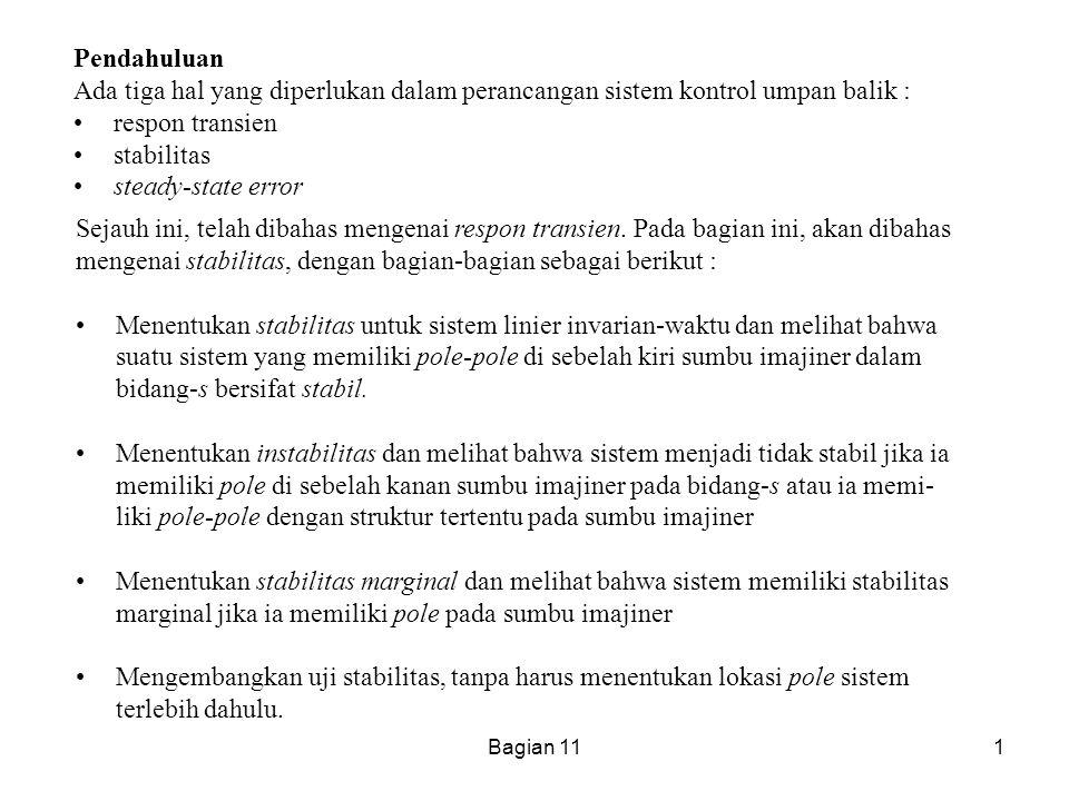 mengenai stabilitas, dengan bagian-bagian sebagai berikut :