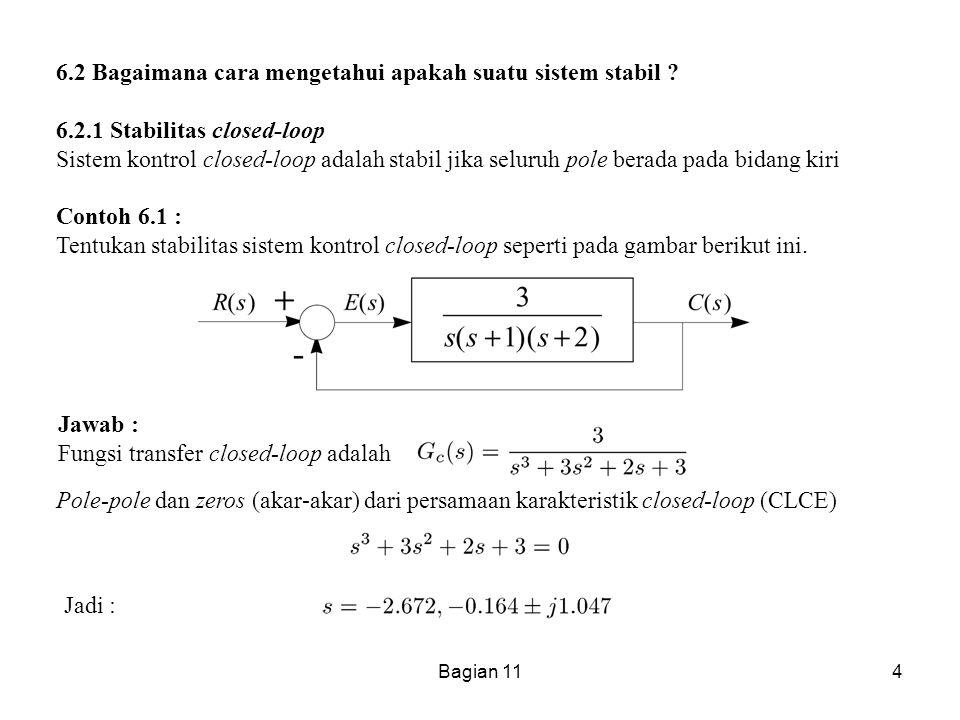 6.2 Bagaimana cara mengetahui apakah suatu sistem stabil