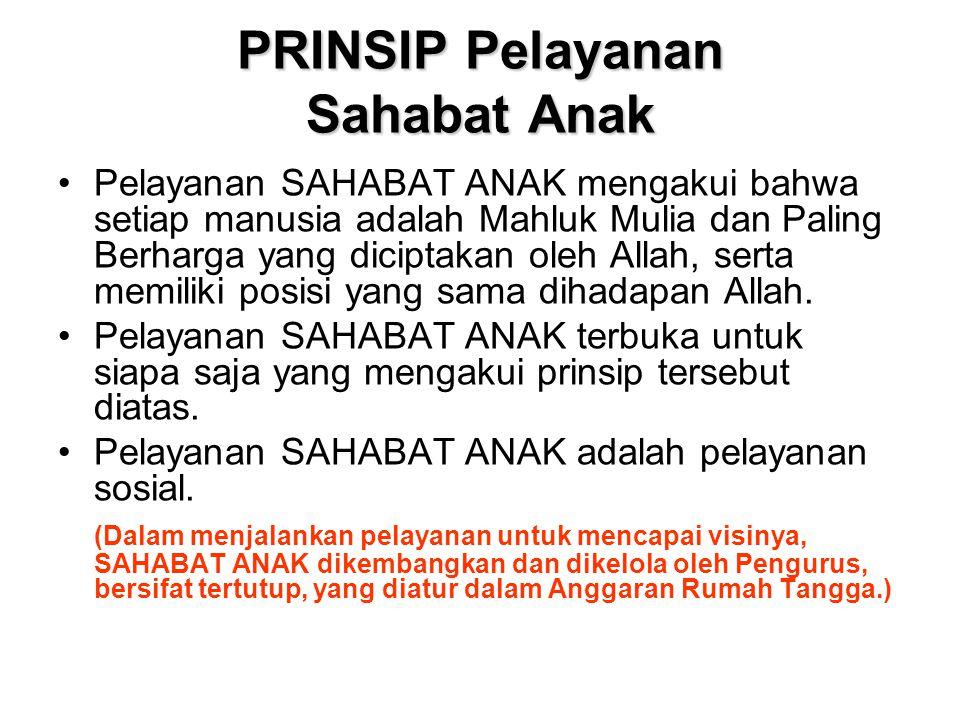 PRINSIP Pelayanan Sahabat Anak
