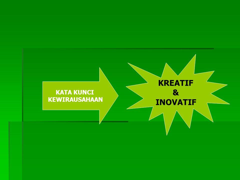 KREATIF & INOVATIF KATA KUNCI KEWIRAUSAHAAN