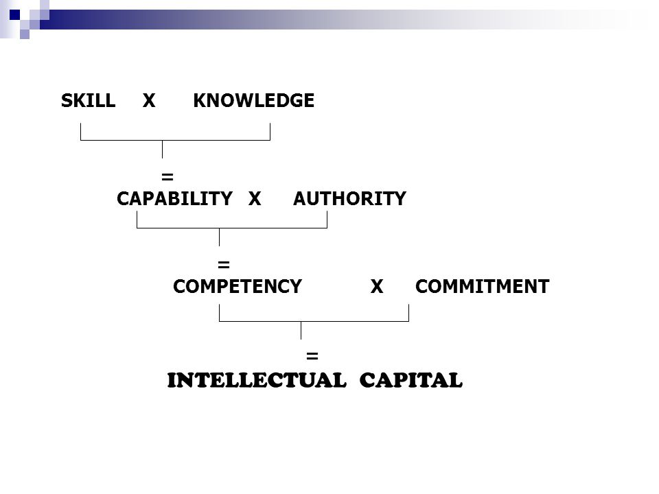 SKILL X KNOWLEDGE = CAPABILITY X AUTHORITY.