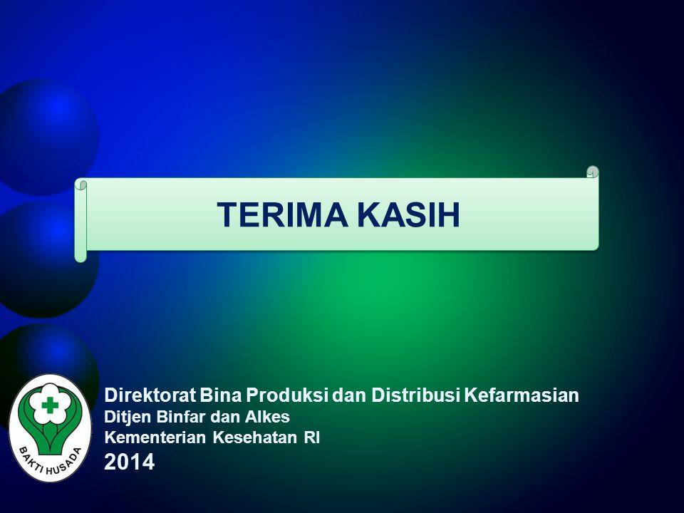 TERIMA KASIH 2014 Direktorat Bina Produksi dan Distribusi Kefarmasian