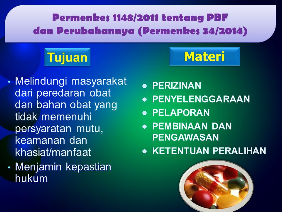 Permenkes 1148/2011 tentang PBF dan Perubahannya (Permenkes 34/2014)