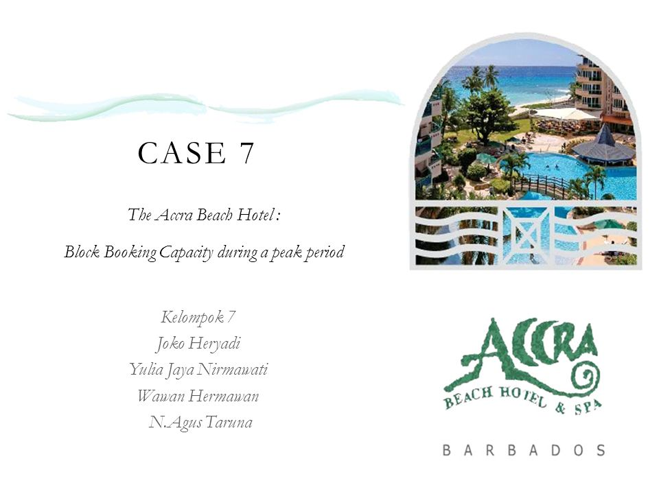 case 8 the accra beach hotel block booking of capacity during a peak period