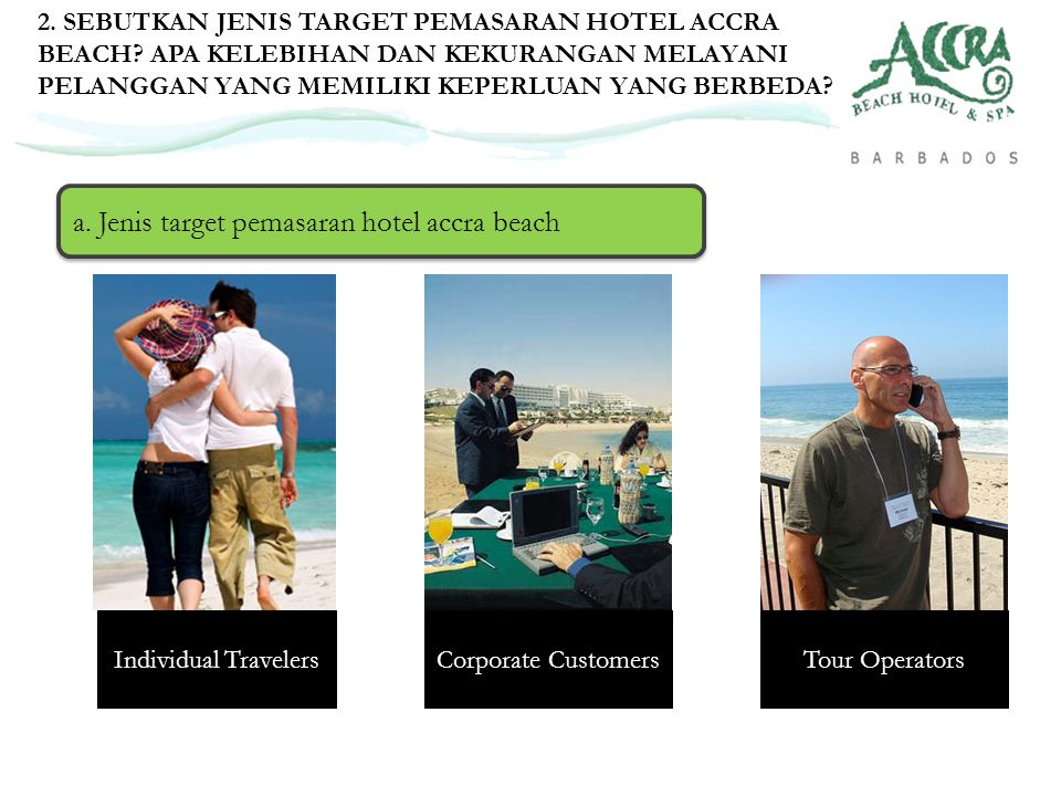 a. Jenis target pemasaran hotel accra beach