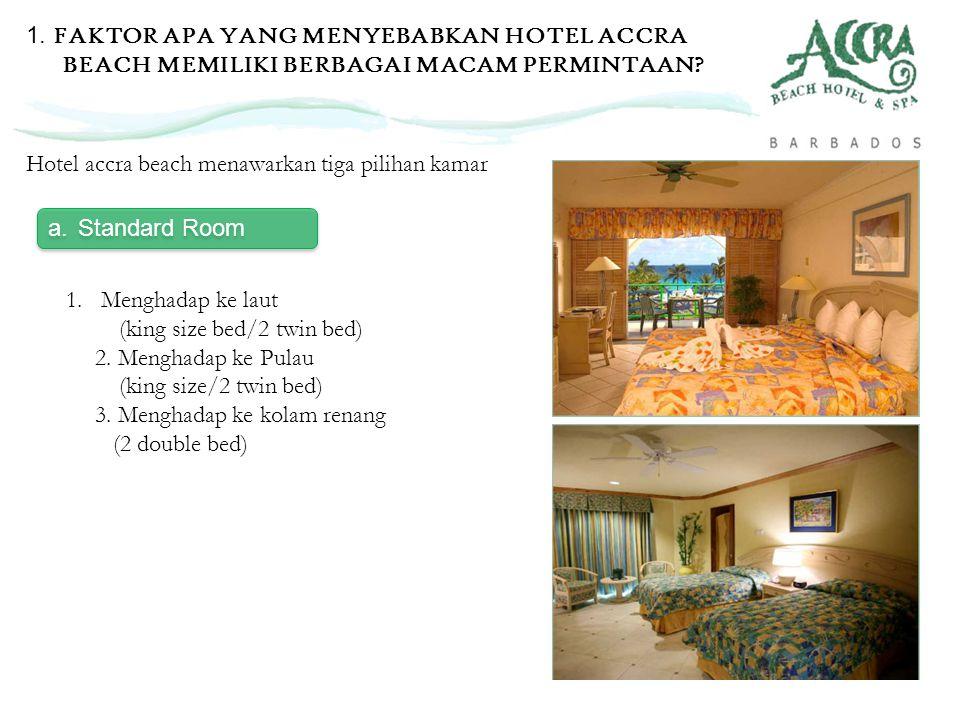 1. FAKTOR APA YANG MENYEBABKAN HOTEL ACCRA BEACH MEMILIKI BERBAGAI MACAM PERMINTAAN