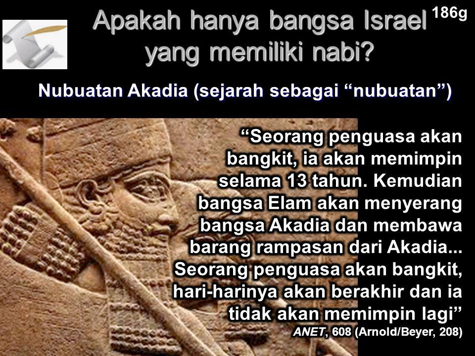 Apakah hanya bangsa Israel yang memiliki nabi