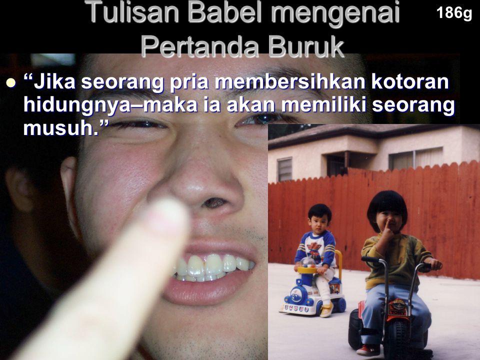Tulisan Babel mengenai Pertanda Buruk
