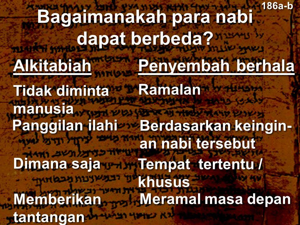 Bagaimanakah para nabi dapat berbeda