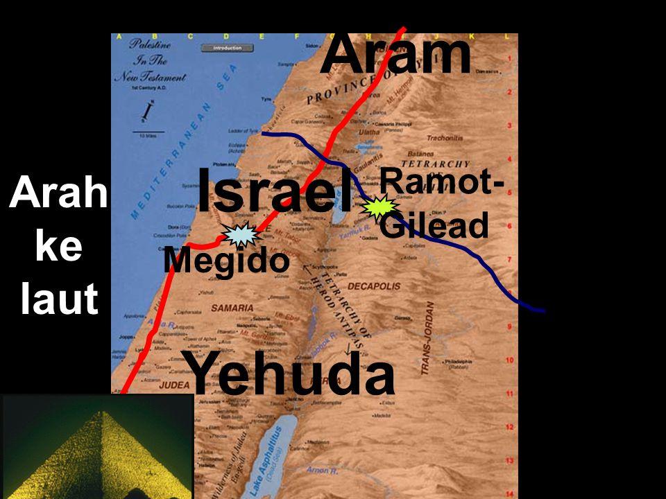 Aram Arah ke laut Ramot-Gilead Israel Megido Yehuda Egypt