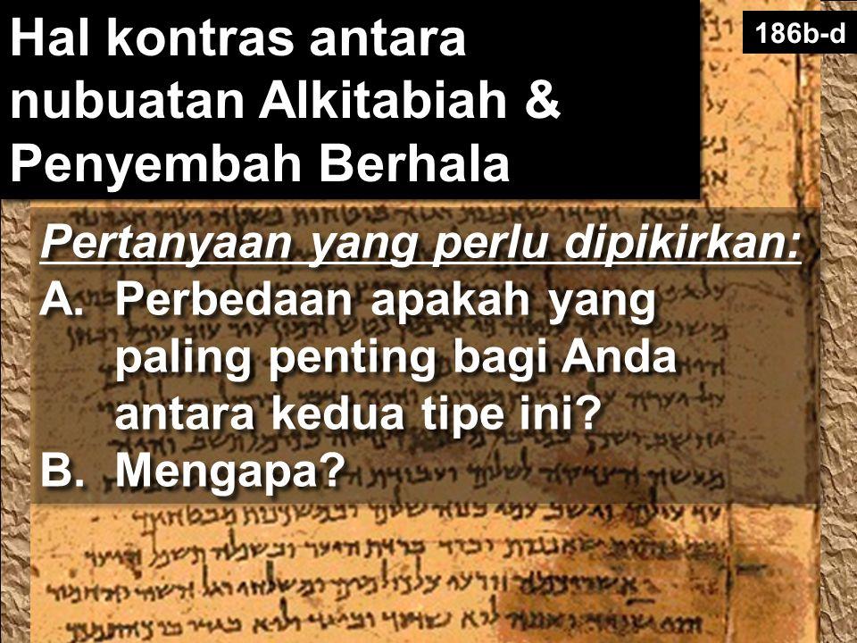 Hal kontras antara nubuatan Alkitabiah & Penyembah Berhala