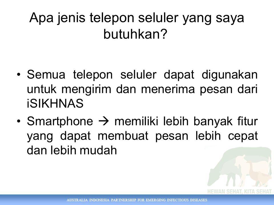 Apa jenis telepon seluler yang saya butuhkan