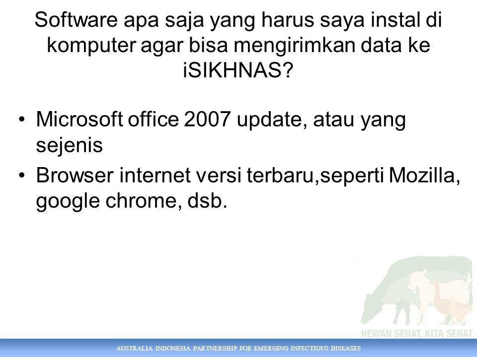 Software apa saja yang harus saya instal di komputer agar bisa mengirimkan data ke iSIKHNAS