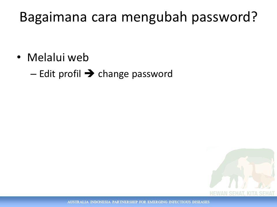 Bagaimana cara mengubah password