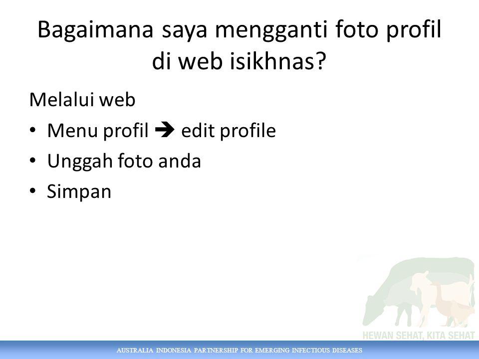 Bagaimana saya mengganti foto profil di web isikhnas