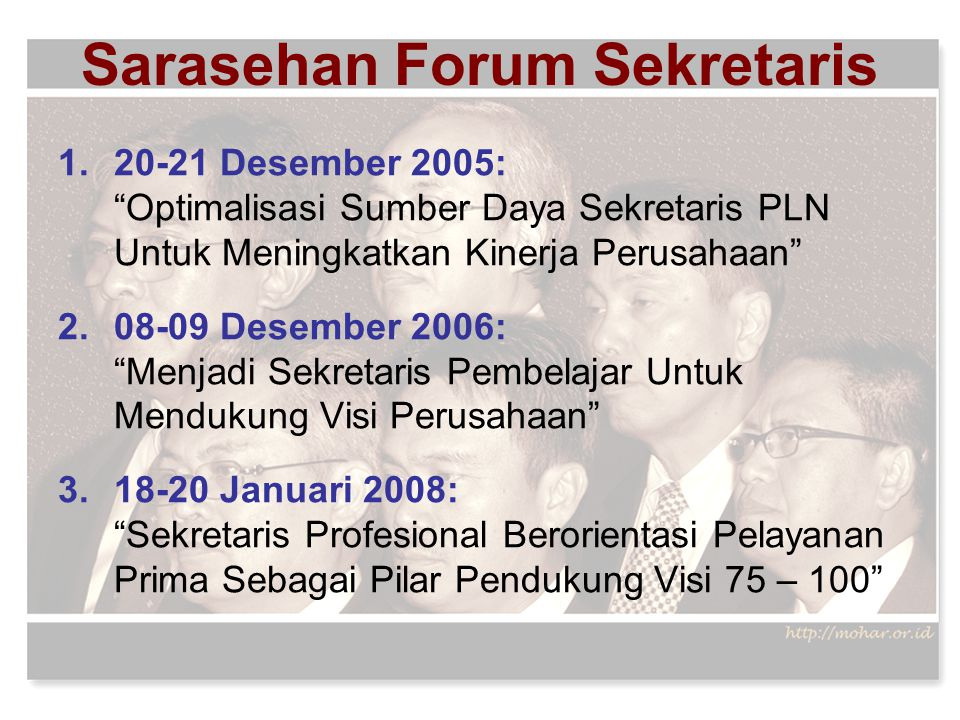 Sarasehan Forum Sekretaris