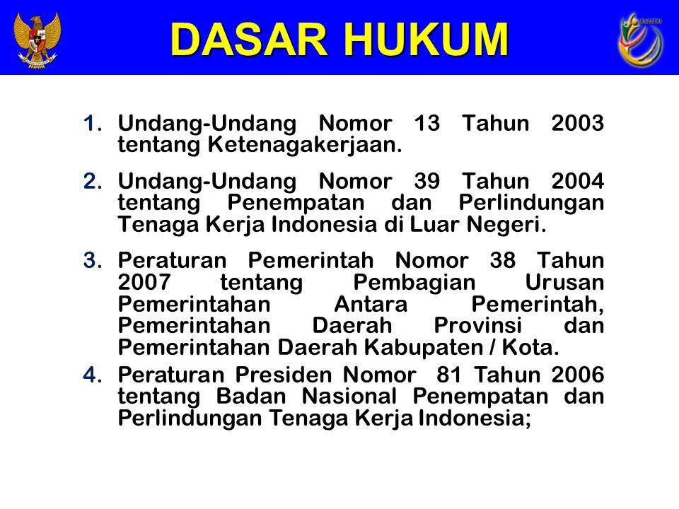DASAR HUKUM Undang-Undang Nomor 13 Tahun 2003 tentang Ketenagakerjaan.