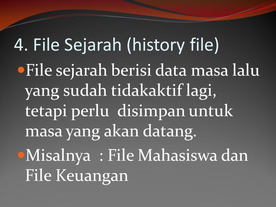 4. File Sejarah (history file)
