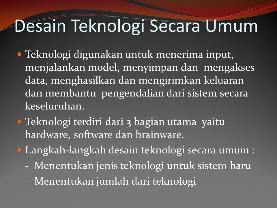 Desain Teknologi Secara Umum