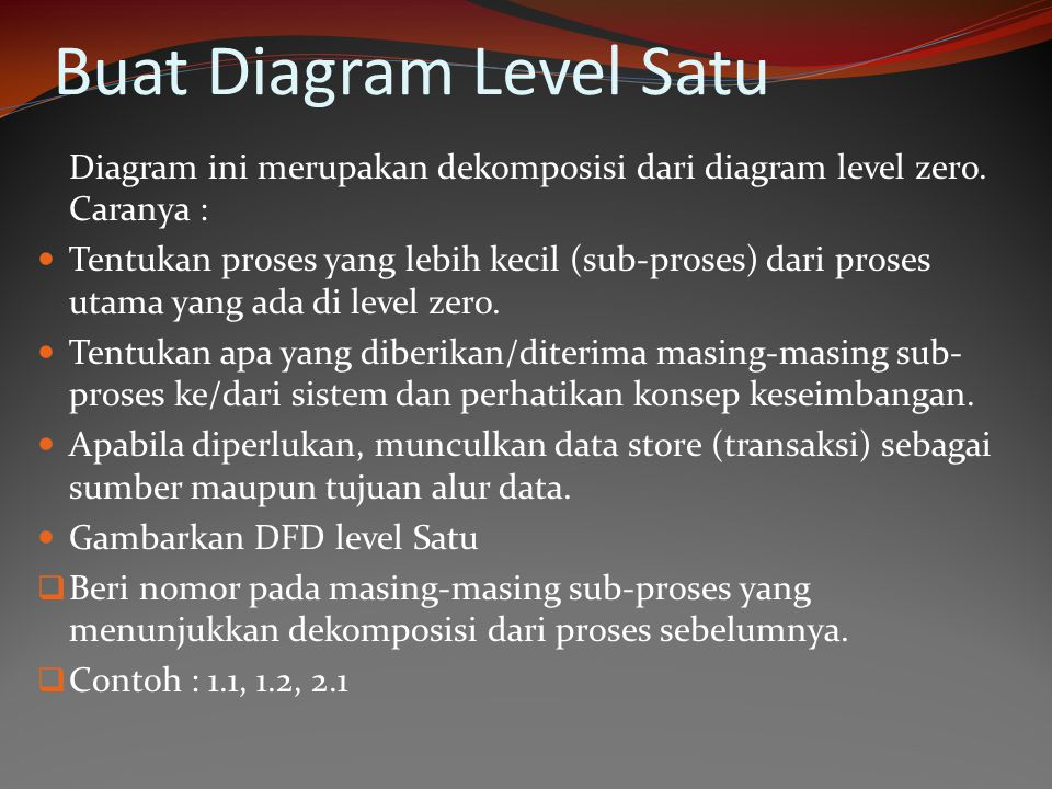 Buat Diagram Level Satu