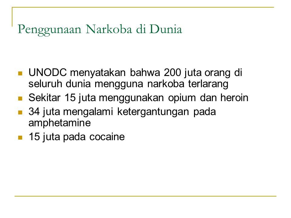 Penggunaan Narkoba di Dunia
