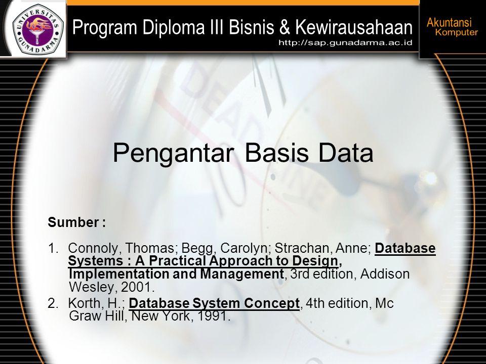 Pengantar Basis Data Sumber :