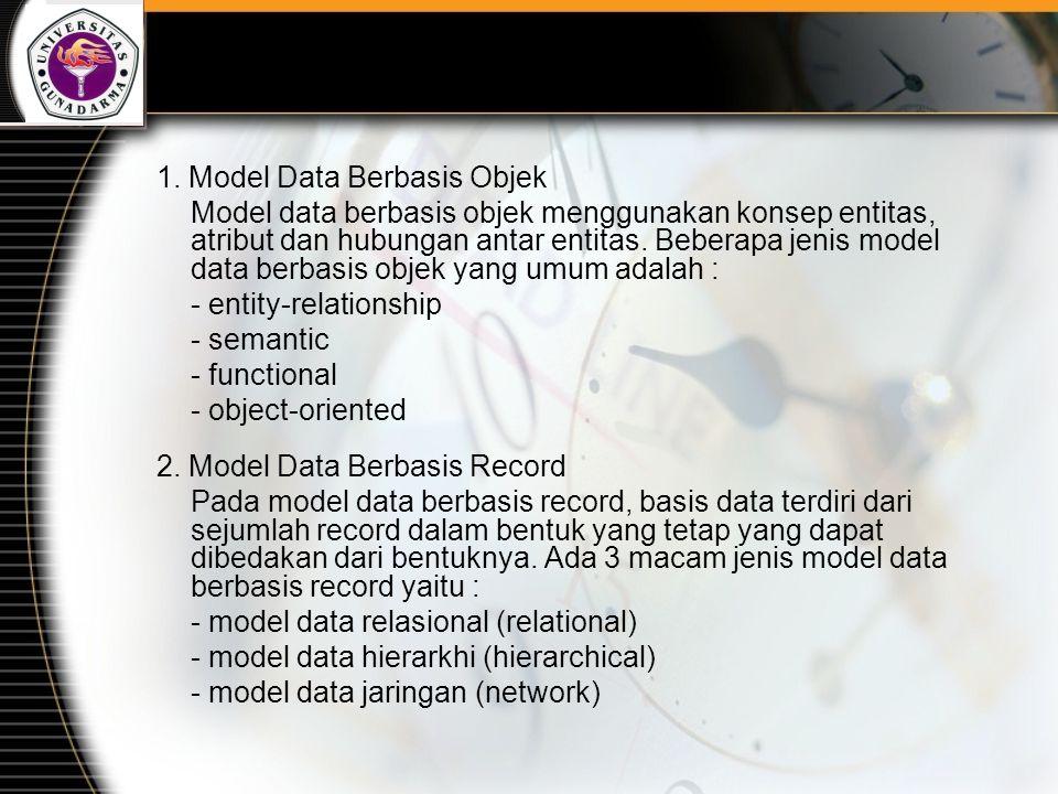 1. Model Data Berbasis Objek