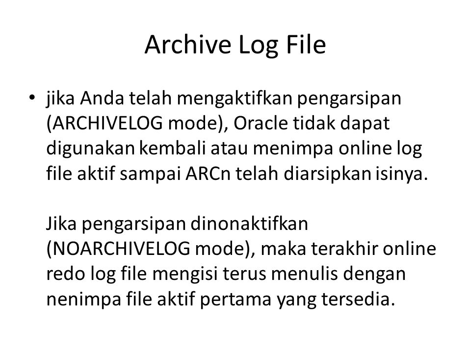 Archive Log File