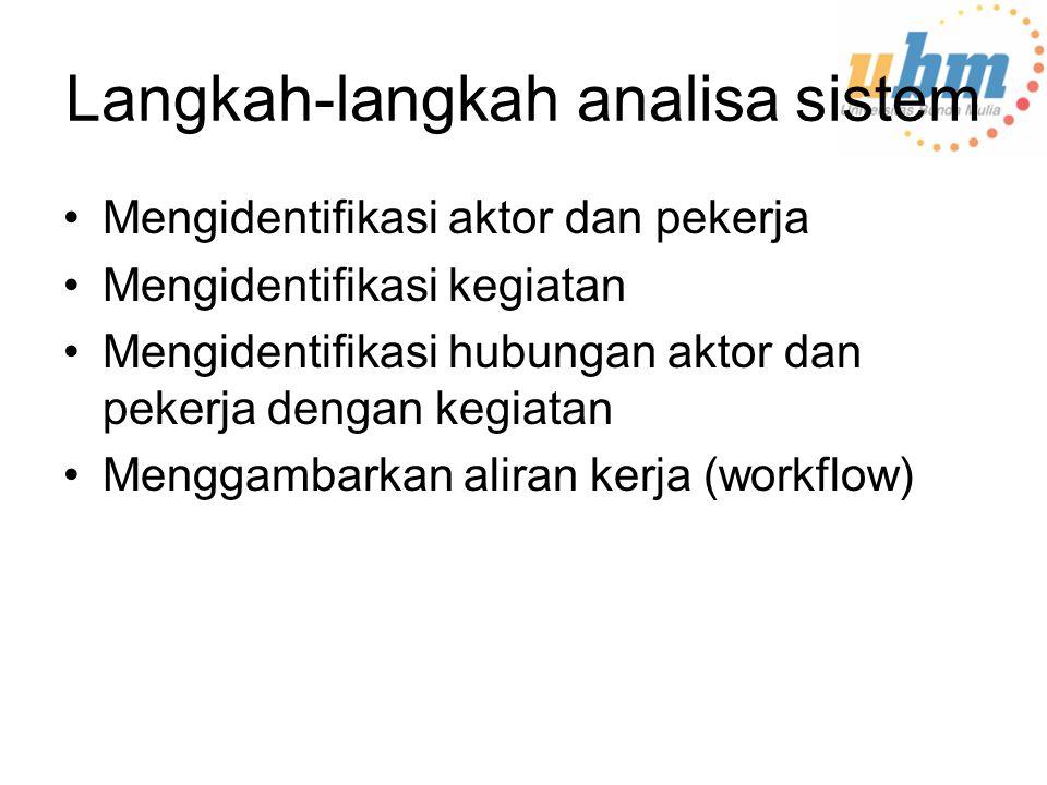 Langkah-langkah analisa sistem