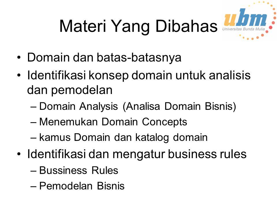 Materi Yang Dibahas Domain dan batas-batasnya