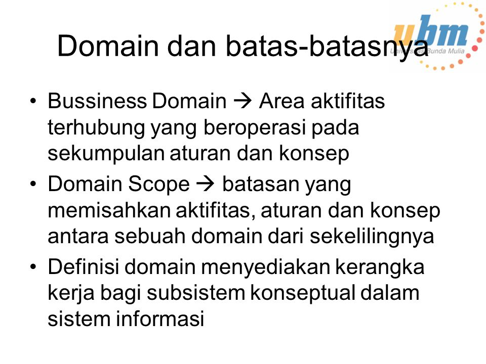 Domain dan batas-batasnya
