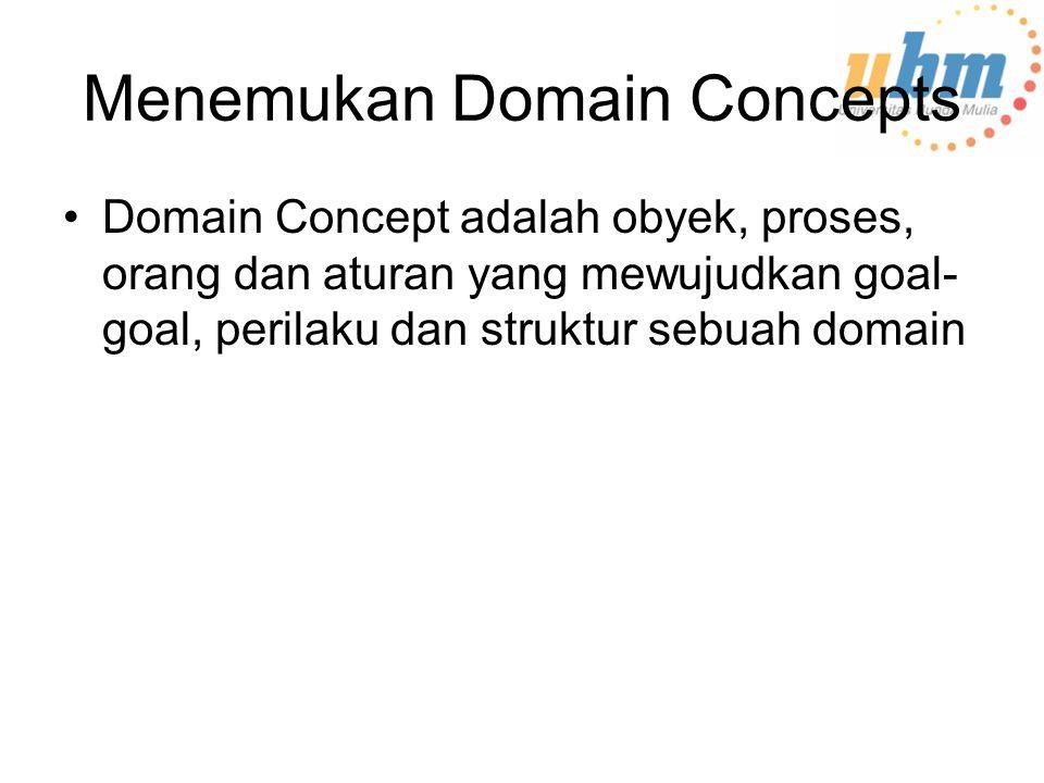 Menemukan Domain Concepts