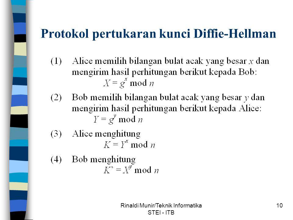 Protokol pertukaran kunci Diffie-Hellman