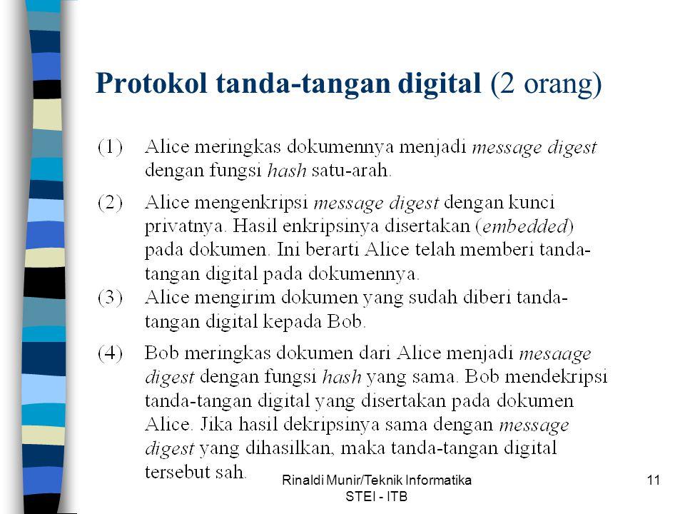 Protokol tanda-tangan digital (2 orang)