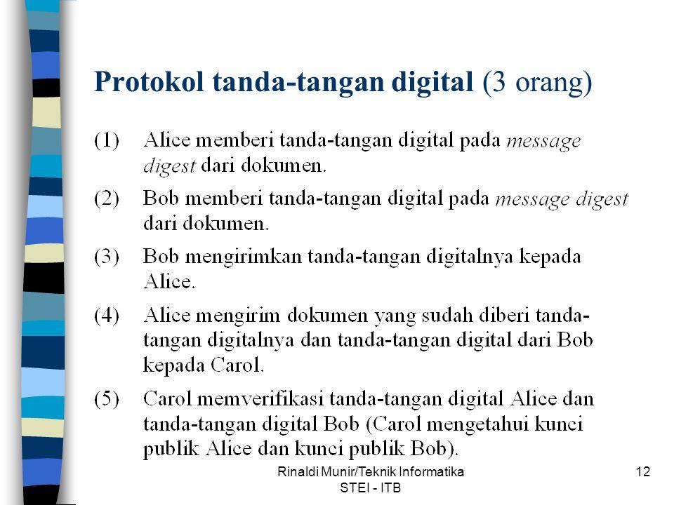 Protokol tanda-tangan digital (3 orang)