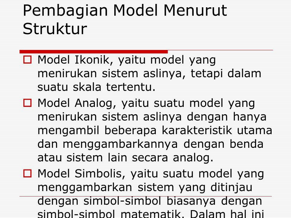 Pembagian Model Menurut Struktur