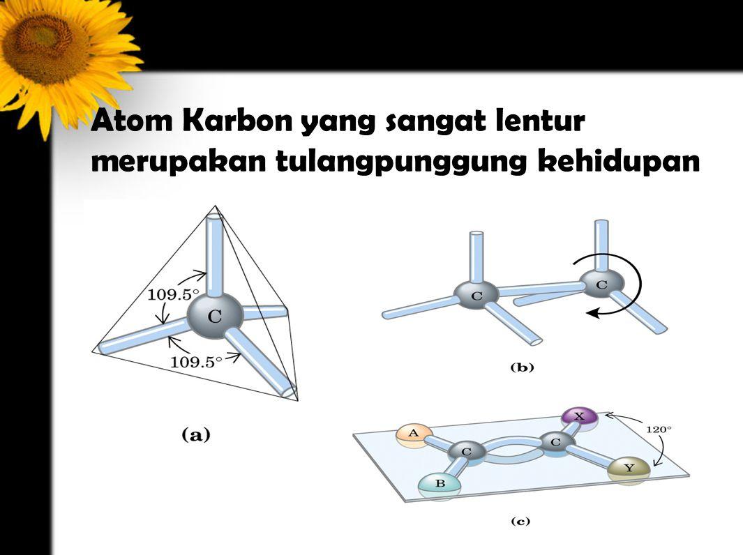 Atom Karbon yang sangat lentur merupakan tulangpunggung kehidupan