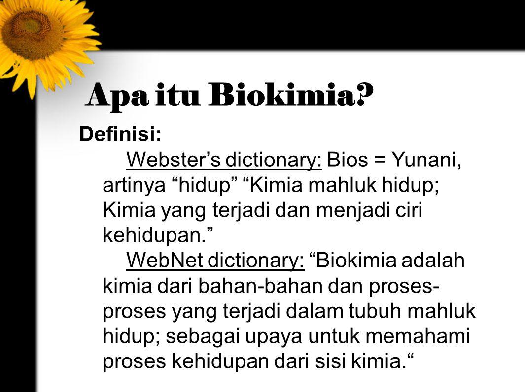 Apa itu Biokimia Definisi: