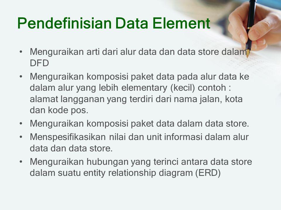 Pendefinisian Data Element