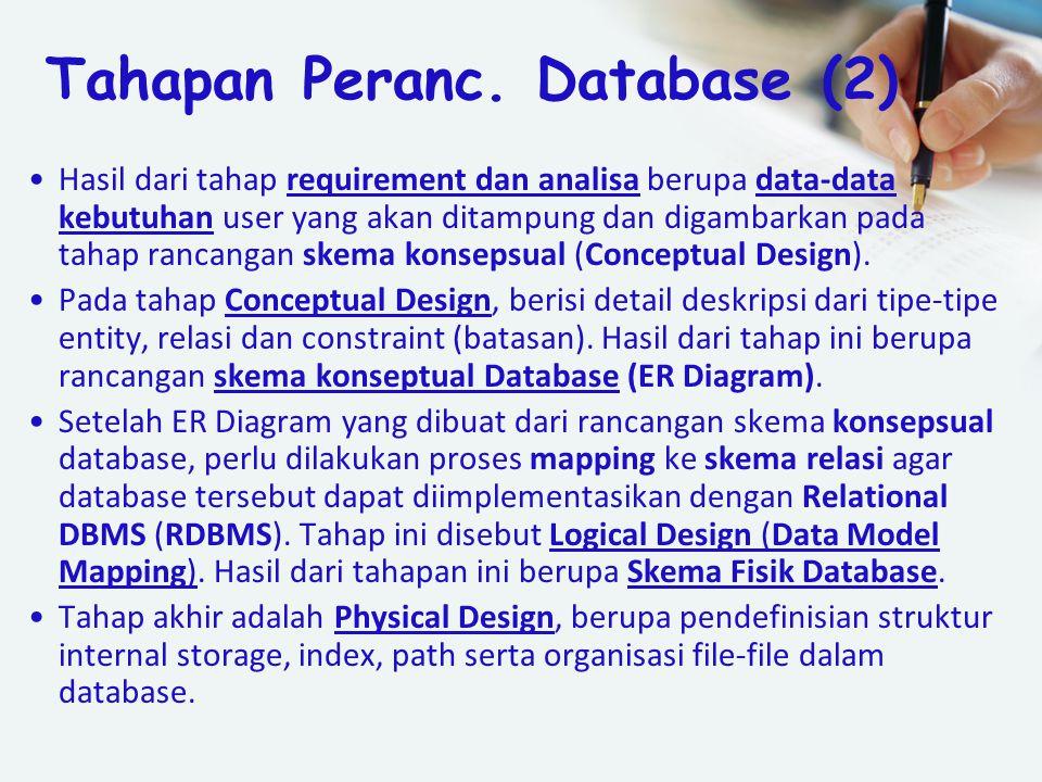 Tahapan Peranc. Database (2)