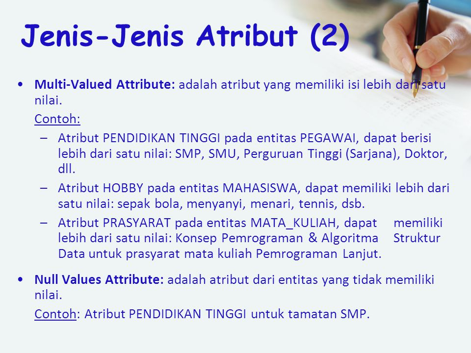 Jenis-Jenis Atribut (2)