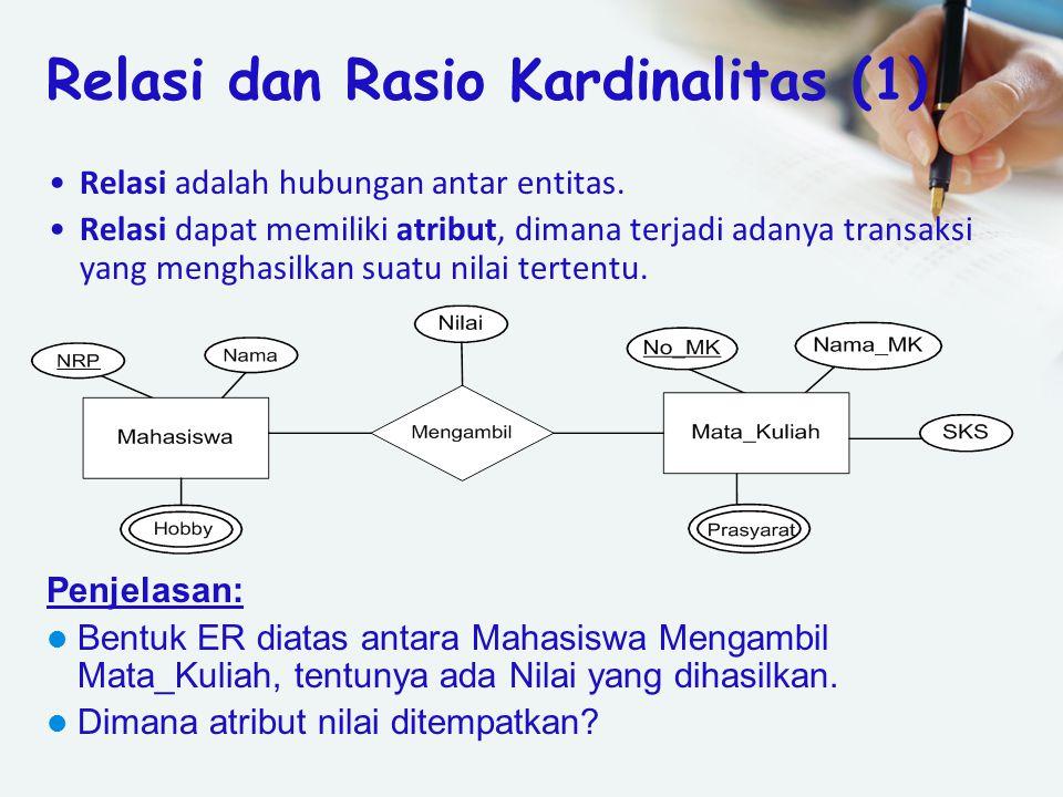 Relasi dan Rasio Kardinalitas (1)