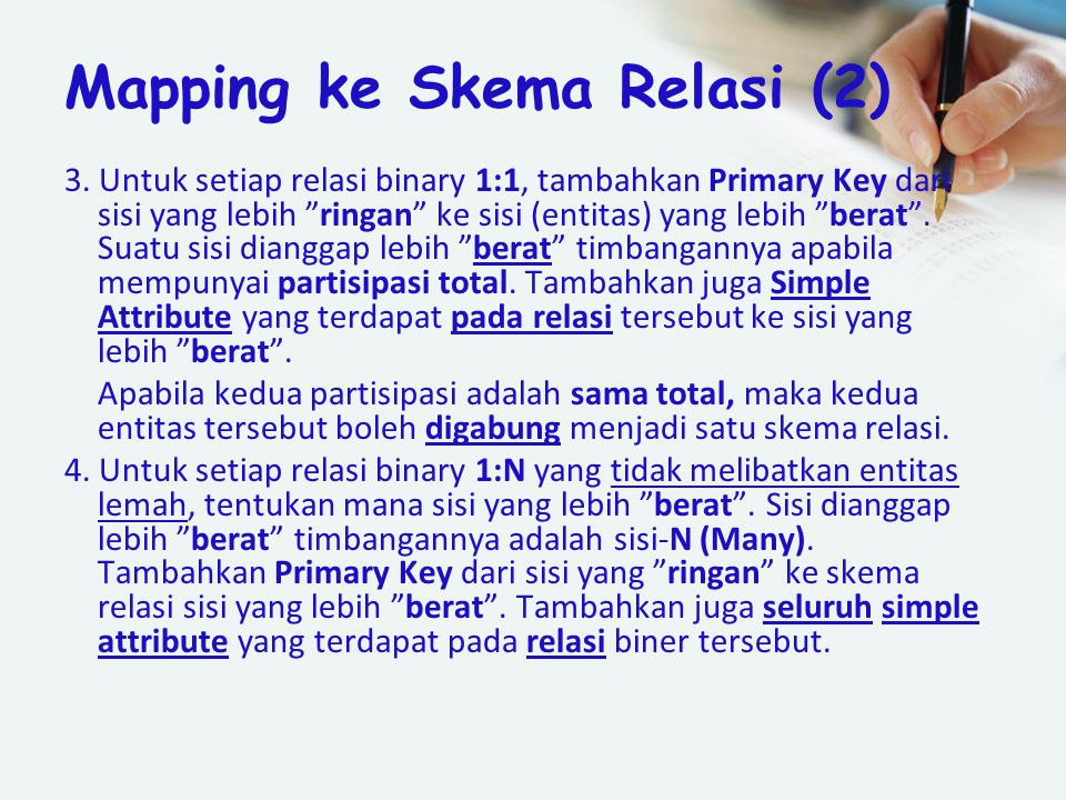 Mapping ke Skema Relasi (2)
