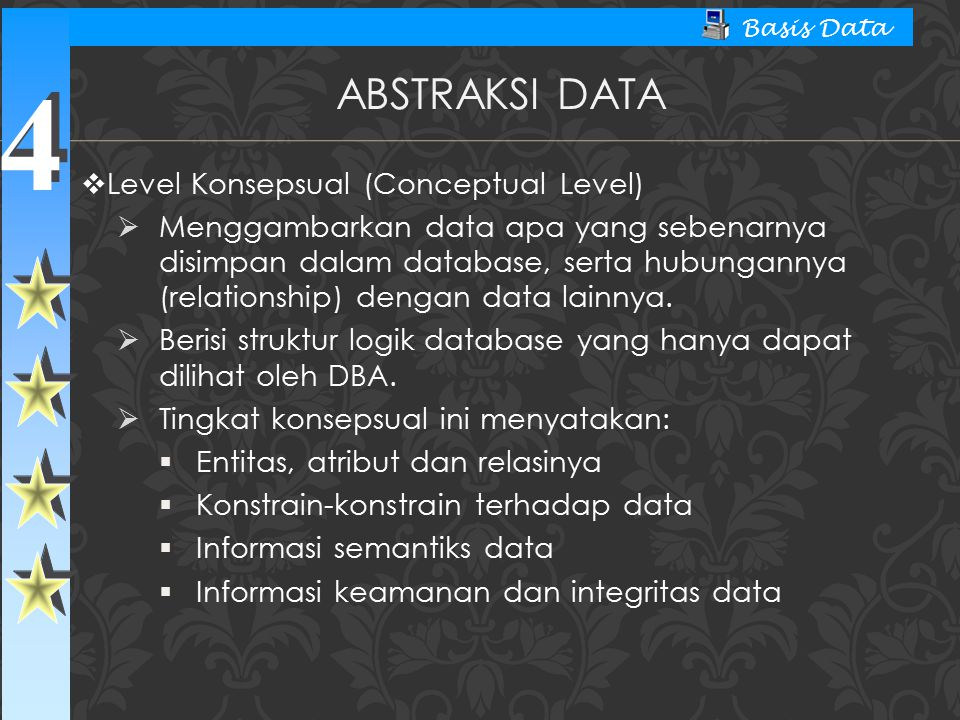 Abstraksi Data Level Konsepsual (Conceptual Level)