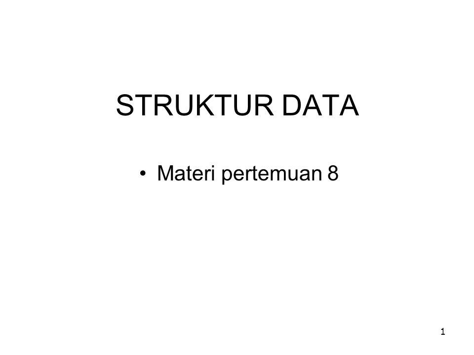 STRUKTUR DATA Materi pertemuan 8