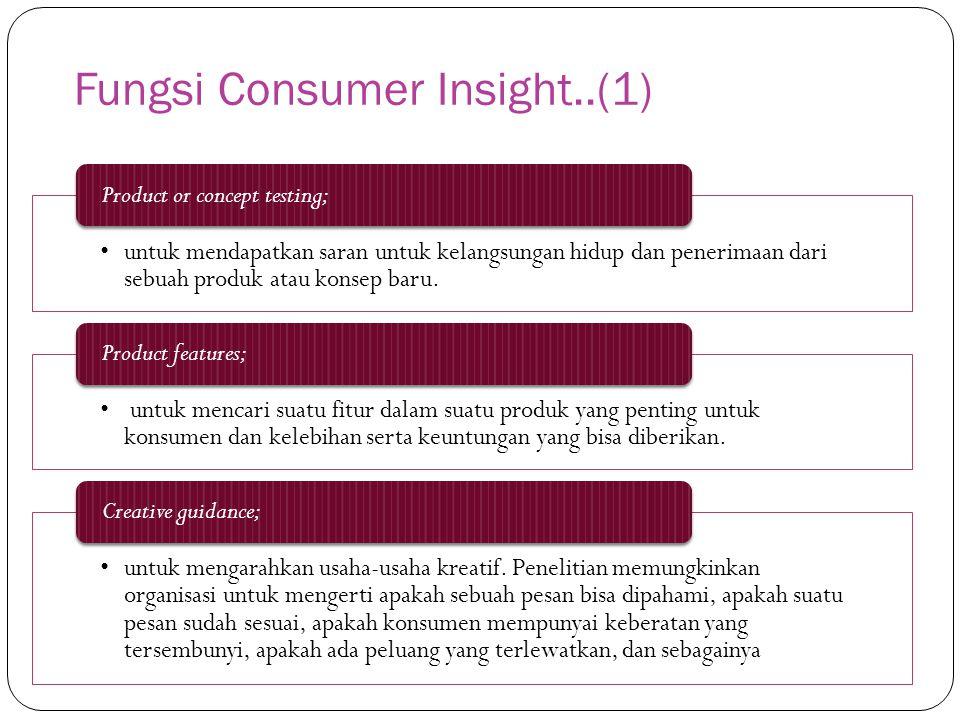 Fungsi Consumer Insight..(1)