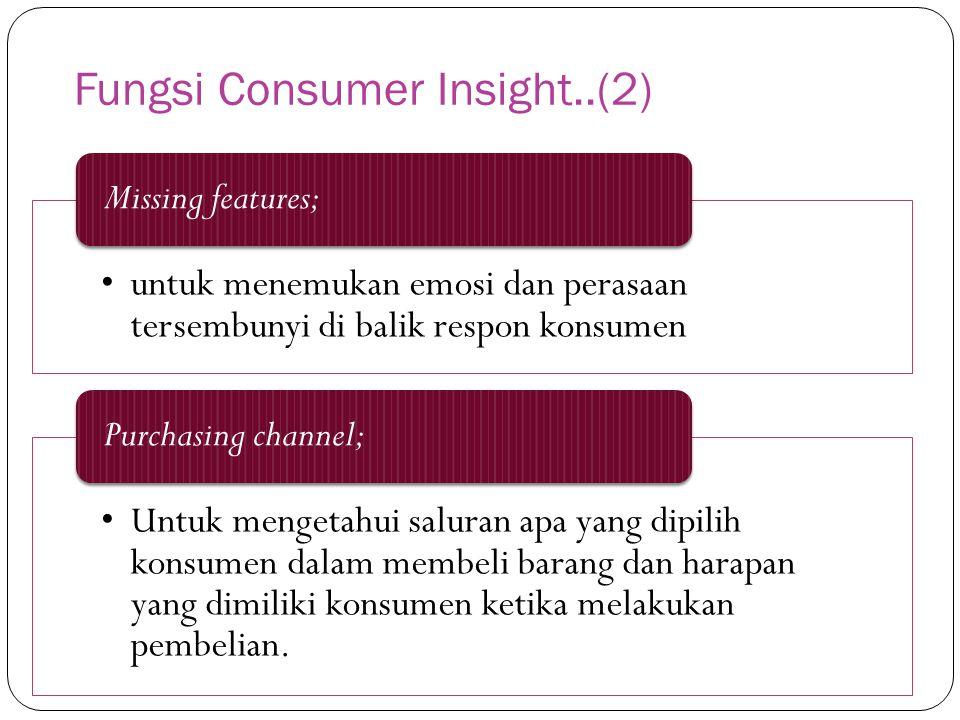 Fungsi Consumer Insight..(2)