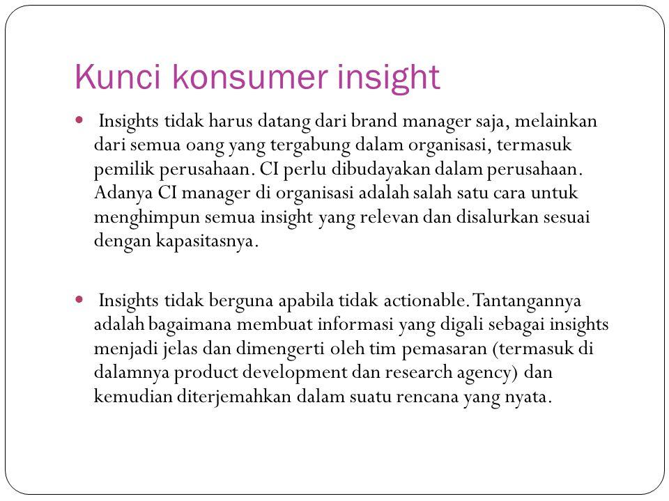 Kunci konsumer insight