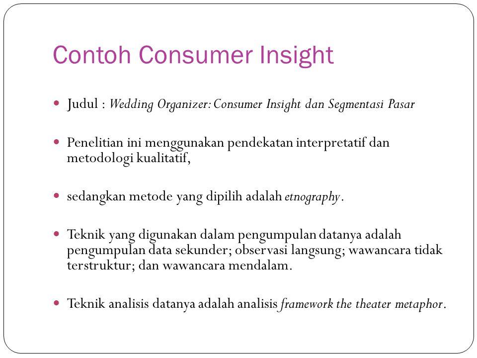 Contoh Consumer Insight