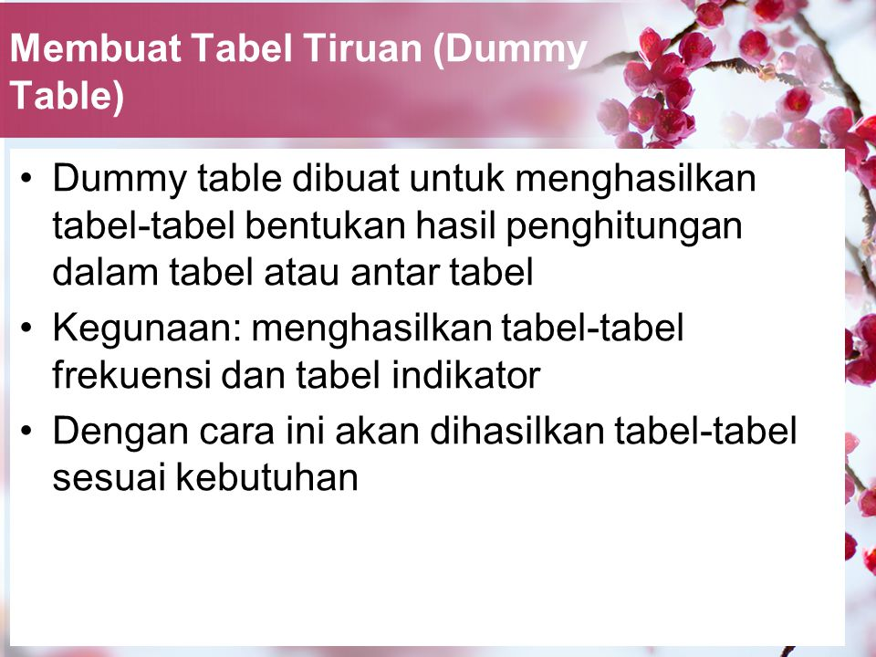 Membuat Tabel Tiruan (Dummy Table)